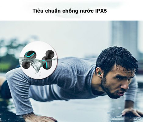 thiết kế chống nước chuẩn IPX5