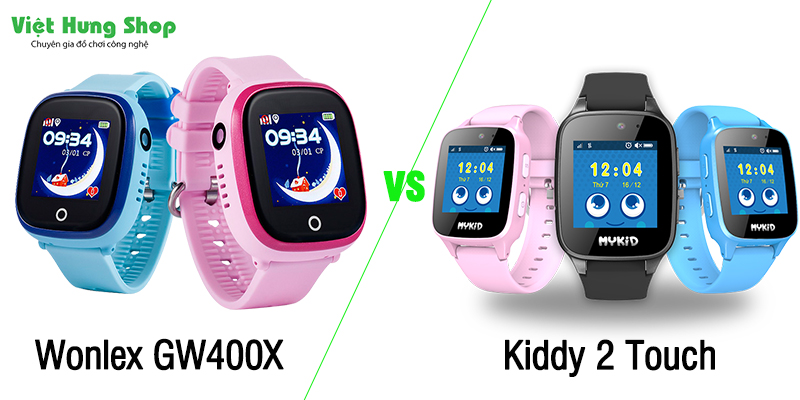 So sánh Wonlex GW400X và Kiddy 2 Touch