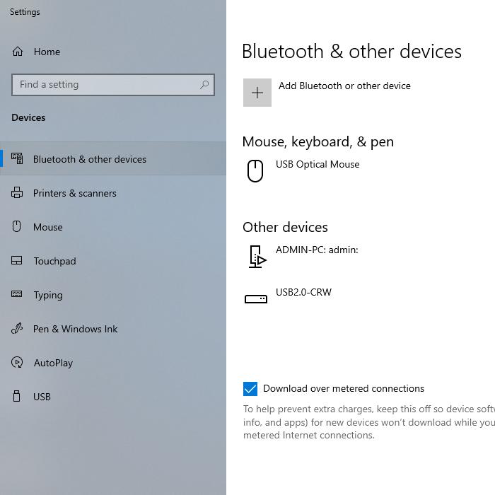Cấu hình bluetooth của máy tính