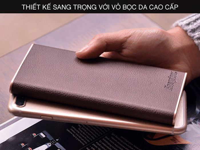 Pin dự phòng Energizer 10000 mAh Luxury Leather UE10009 thiết kế cao cấp