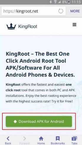 Root android bằng kingroot