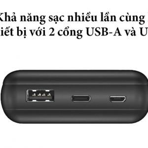 hai cổng USB-A và USB-C