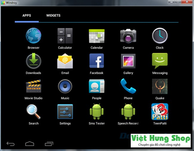 Phần mềm Android Windroy