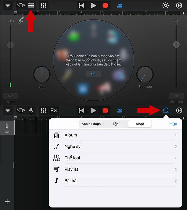 Chọn Audio Recorder để chọn bài hát
