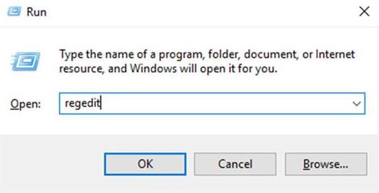 mở cửa sổ lệnhRun, sau đó bạn nhậpregedit
